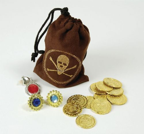 Pirate Pouch Handbag with Coins and Jewels